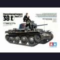 1:35  Tamiya  35369 Немецкий танк  Pz.Kpfw 38(t) Ausf.E/F с фигурой танкиста