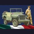 1:24  Italeri  6355 Автомобиль Willys Jeep 1/4 ton 4x4