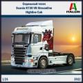 1:24 Italeri 3932 Седельный тягач Scania R730 V8 Streamline Highline Cab
