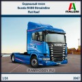 1:24 Italeri 3947 Седельный тягач Scania R400 Streaimline Flat Roof