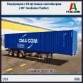1:24 Italeri 3951 Полуприцеп с 40-футовым контейнером (40' Container Trailer)