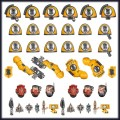 Games Workshop   99070101043   48-58 Imperial Fists Primaris Upgrades and Transfers