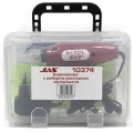 Jas  10374  Бормашина 12 В, 12500 об/мин., принадлежности 15 пред., пластик. Коробка