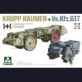 1:72 Takom 5007 Машины разминирования Krupp Raumer и Vs.Kfz. 617