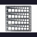 Tamiya  74156 Металлический, фототравленный трафарет с квадратами от 1-10 мм