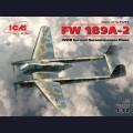 1:72 ICM 72292  Немецкий самолёт-разведчик Focke-Wulf Fw.189A-2