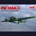 1:72 ICM 72293  Немецкий ночной истребитель Focke-Wulf Fw.189A-1