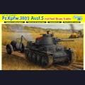 1:35  Dragon  6435 Немецкий легкий танк Pz.Kpfw.38(t) Ausf.S с бочками топлива на прицепе