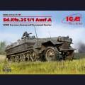 1:35 ICM 35101 Немецкий полугусеничный БТР Sd.Kfz.251/1 Hanomag Ausf.A