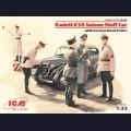 1:35  ICM  35480 Немецкий штабной автомобиль Opel Kadett K38 с дорожной полицией