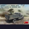 1:35 MiniArt 35186 Советский 1,5 Тонный Автомобиль с Счетверенным Пулеметом Максим М4