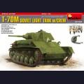 1:35  MiniArt  35194 Советский легкий танк Т-70М с экипажем