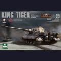 1:35  Takom  2045  Немецкий тяжёлый танк Sd.Kfz.182 King Tiger (с башней Henschel, в циммерите, с интерьером)
