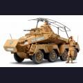 1:35  Tamiya  35297 Немецкий тяжелый бронеавтомобиль Sd.Kfz.232 (8-Rad), Африканский корпус