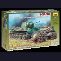 1:35  Zvezda  3580 Советский средний танк Т-34/76 с минным тралом
