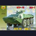 1:35  Zvezda  3587 Советский бронетранспортер БТР-70 с башней МА-7