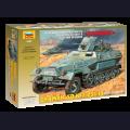 1:35  Zvezda  3588 Немецкий полугусеничный БТР Sd.Kfz.251/10 Hanomag Ausf.B с орудием 3.7cm Pak.35/36