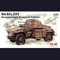 1:72  ICM  72411 Немецкий легкий бронеавтомобиль Sd.Kfz.222