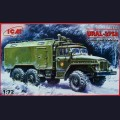 1:72  ICM  72712 Советский армейский грузовик Урал-375А подвижный командный пункт