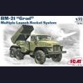 1:72  ICM  72714 Советская реактивная система залпового огня БМ-21