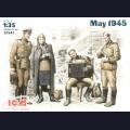 1:35  ICM  35541 Советские военнослужащие, май 1945г