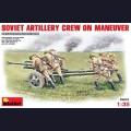 1:35 MiniArt 35081 Советский артиллерийский расчет на маневре с орудием ЗиС-3
