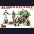 1:35 MiniArt 35098 Советская полевая кухня ПК-42 в зимний период