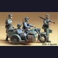 1:35  Tamiya  35016 Немецкие мотоциклисты на BMW R75 и 2 солдата