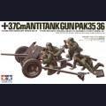 1:35  Tamiya  35035 Немецкая противотанковая 37мм пушка Pak.35/36 с расчетом
