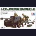 1:35  Tamiya  35047 Немецкая противотанковая 75мм пушка Pak.40 с расчетом