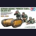 1:35 Tamiya 35357 Немецкие саперы с самоходными минами Goliath