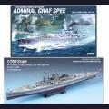 1:350  Academy  14103 Немецкий тяжелый крейсер (карманный линкор) Admiral Graf Spee