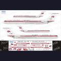 1:144 Ascensio I62-007 Набор декалей для Ил-62М авиакомпания Air Koryo