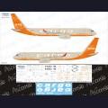 1:144 Ascensio T20-007 Набор декалей для Ту-204-100С авиакомпания ATu Cargo (Orange)