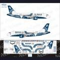 1:144 Ascensio 319-011 Набор декалей для Airbus A319 авиакомпания Аврора