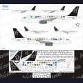 1:144 Ascensio 320-007 Набор декалей для Airbus A320-200 авиакомпания Star Alliance