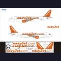 1:144 Ascensio 320-014 Набор декалей для Airbus A320 авиакомпания EasyJet