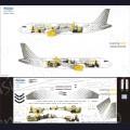 1:144 Ascensio 320-023 Набор декалей для Airbus A320 авиакомпания Vueling Airlines