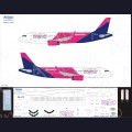 1:144 Ascensio 320-025 Набор декалей для Airbus A320 авиакомпания Wizz Air (новая ливрея)