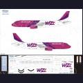 1:144 Ascensio 320-026 Набор декалей для Airbus A320 авиакомпания Wizz Air (старая ливрея)
