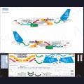 1:144 Ascensio 320-027 Набор декалей для Airbus A320 авиакомпания Wizz Air
