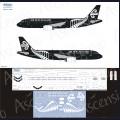 1:144 Ascensio 320-031 Набор декалей для Airbus A320 авиакомпания Air New Zealand (Black-White)