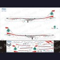 1:144 Ascensio 321-012 Набор декалей для Airbus A321 авиакомпания MEA (Middle East Airlines)