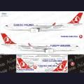 1:144 Ascensio 333-003 Набор декалей для Airbus A330-300 авиакомпания Turkish Airlines