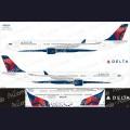 1:144 Ascensio 333-004 Набор декалей для Airbus A330-300 авиакомпания Delta