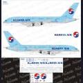 1:144 Ascensio 380-003 Набор декалей для Airbus A380-800 авиакомпания Korean Air