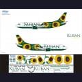 1:144 Ascensio 733-004 Набор декалей для Boeing 737-300 авиакомпания Кубань