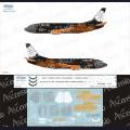 1:144 Ascensio 733-010 Набор декалей для Boeing 737-300 авиакомпания Belavia