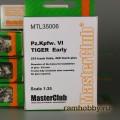 1:35  MasterClub  MTL35006 Наборные металлические траки для Pz.Kpfw.VI Tiger ранней версии
