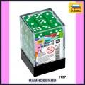 Звезда 1137 Набор зелёных игровых кубиков D6 (36шт)